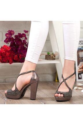 Adım Adım Platin Yüksek Topuk Abiye Kadın Ayakkabı • A192ymon0017 4
