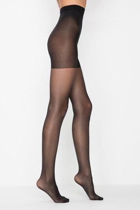 Penti Kadın Siyah Penti Siluet 20 Den Külotlu Korseli Çorap   Xl / 4 0