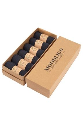 Moodligo Erkek Füme Premium 6lı Bambu Çorap 0