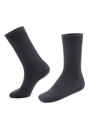Moodligo Erkek Füme Premium 6lı Bambu Çorap 1