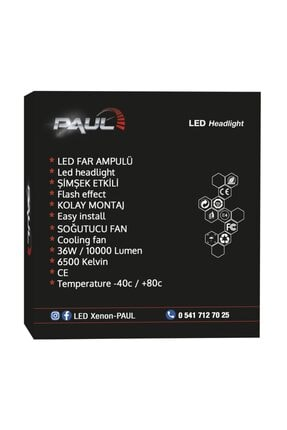 PAULLED H1 Xenon 10.000 Lümen Güç Led Far 3