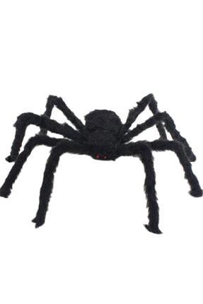 Samur Siyah Renk Tüylü Şekil Verilebilir Halloween Mega Örümcek 75 Cm 1