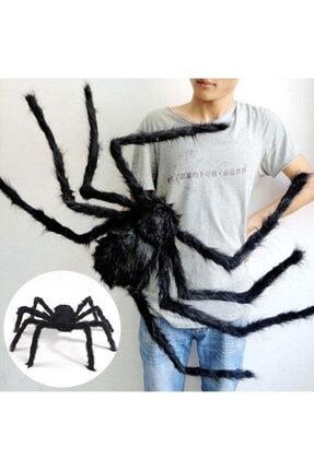 Samur Siyah Renk Tüylü Şekil Verilebilir Halloween Mega Örümcek 75 Cm 4