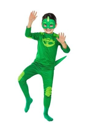Tpm Greg Kertenkele Çocuk Kostümü -pijamaskeliler Kostümü - 0
