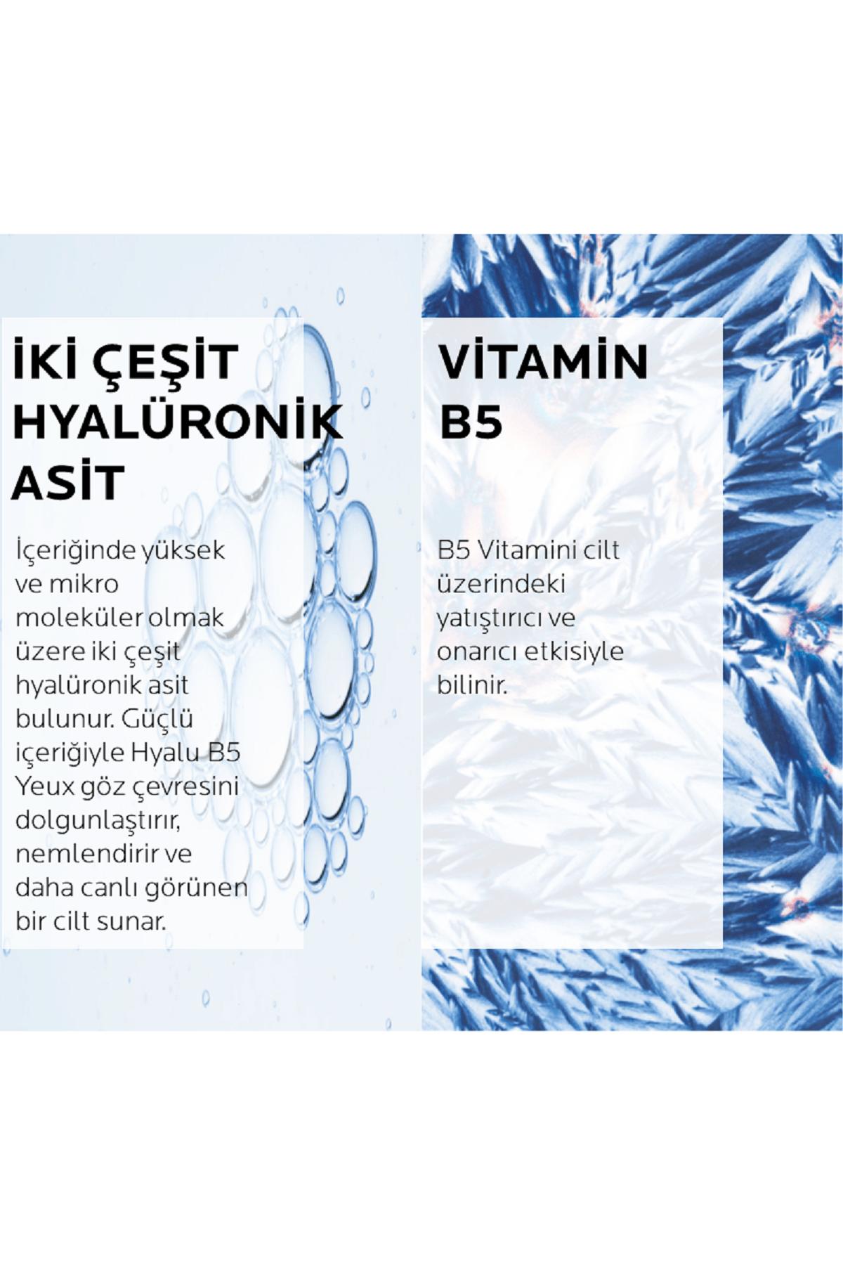 La Roche Posay Hyalu B5 Yeux Dolgunlaştırıcı Göz Kremi Hyalüronik Asit ve Vitamin B5 ile 15 ml 3337875613668 3