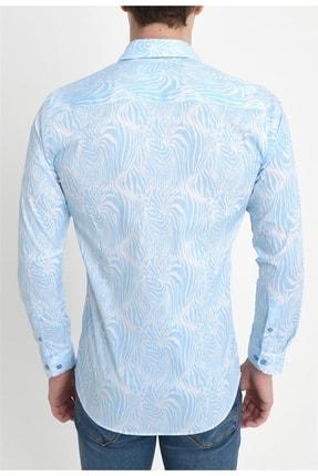 Efor G 1407 Slim Fit Mavi Spor Gömlek 3