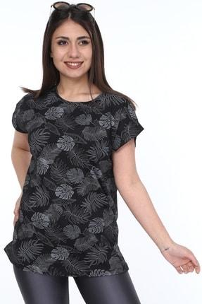 1fazlası Kadın Büyük Beden, Desenli Günlük T-shirt 1