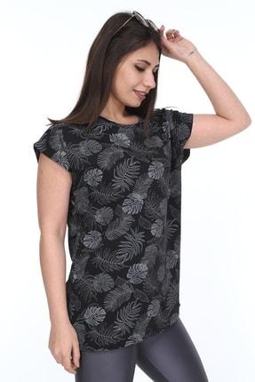 1fazlası Kadın Büyük Beden, Desenli Günlük T-shirt 4