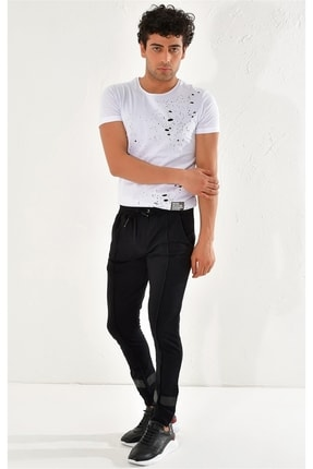Efor Atp 014 Slim Fit Siyah Spor Pantolon 1