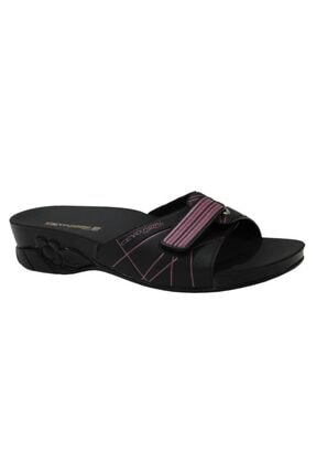 Ceyo Flora-5 Siyah Ortapedik Bayan Terlik & Sandalet 0
