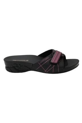 Ceyo Flora-5 Siyah Ortapedik Bayan Terlik & Sandalet 1
