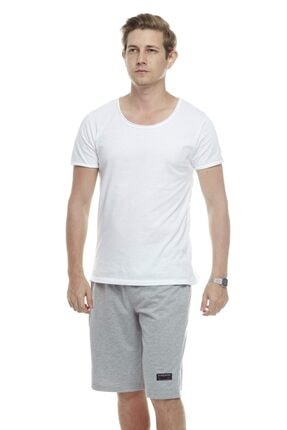 Tena Moda Erkek Gri Likra Klasik Şort 3