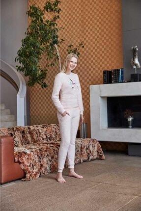Anıl 9540 Kadın Pijama Polar Unicornlu Sweatshirt Pantolon Tk. 2