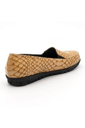 İriadam 200592 Taba Timsah Baski Büyük Numara Bayan Ayakkabı 2