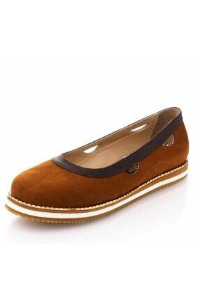 İriadam 17345 Taba Büyük Numara Gündelik Kadın Ayakkabısı 0