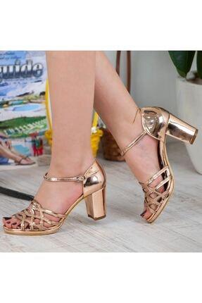 Adım Adım Bakır Yüksek Topuk Abiye Kadın Ayakkabı • A182ysml0019 3