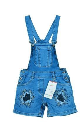 Sercino Kız Çocuk Salopet Tulum Jean 0