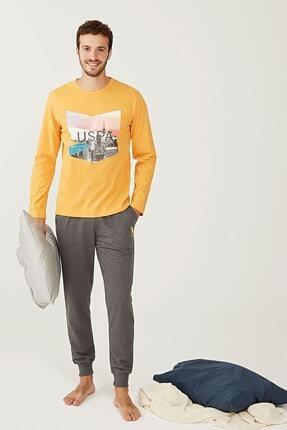 US Polo Assn Yuvarlak Yaka Erkek Pijama Takım 18230 0