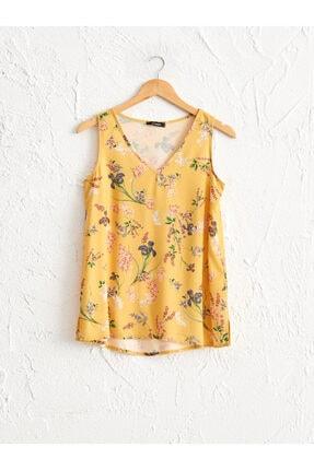 LC Waikiki Kadın Sarı Baskili  Bluz 0