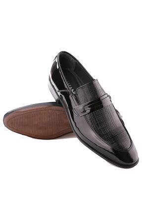 Calvano Hakiki Deri Siyah Erkek Klasik Ayakkabı 3