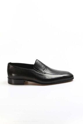 Fast Step Hakiki Deri Siyah Erkek Klasik Ayakkabı 910ma2301 0