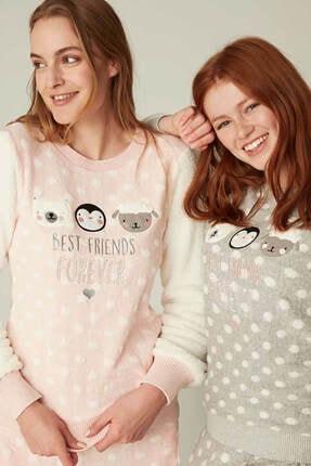 Feyza Bayan Puantiyeli Pijama Takımı 1