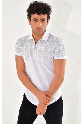 Efor Ts 758 Slim Fit Beyaz Spor T-shirt 1