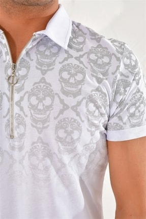 Efor Ts 758 Slim Fit Beyaz Spor T-shirt 3