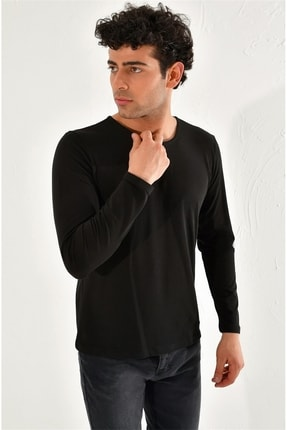 Efor Ts 754 Slim Fit Siyah Spor T-shirt 1