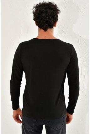 Efor Ts 754 Slim Fit Siyah Spor T-shirt 3