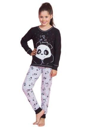 تصویر از 0379 Uzun Kollu Kız Çocuk Pijama Takımı