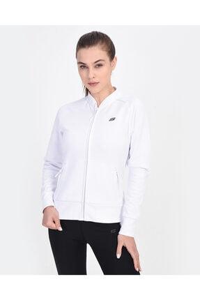 2X I-Lock W Bomber Jacket Kadın Beyaz Fermuarlı Eşofman Üstü S201056-100 resmi