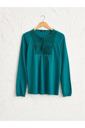 LC Waikiki Kadın Orta Yeşil  Tişört 0