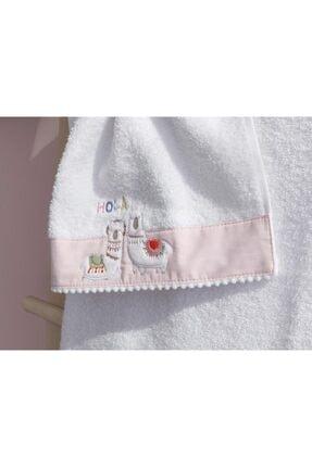 English Home Lama Pamuklu Bebek El Havlusu 30x40 Cm Beyaz 1