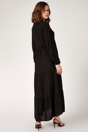 Bigdart 1627 Yaka Bağcıklı Tesettür Elbise 2