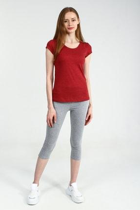 Collezione Kırmızı Yuvarlak Kesim Kısa Kollu Basic Kadın Tshirt 0