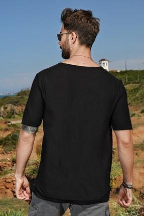CHUBA Erkek Bisiklet Yaka Oversize Triko T-shirt 20s404 4