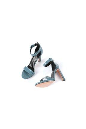 Oblavion Carmen Indigo Mavi Topuklu Ayakkabı 4