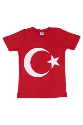 Bayrak Baskılı Çocuk T-shirt | Kırmızı resmi