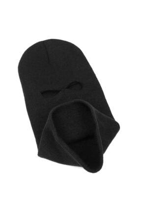 PAKER GİYİM Siyah Kışlık Unisex 3 Gözlü Kar Maskesi 2