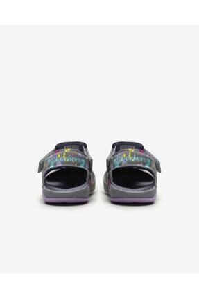 Skechers SIDE WAVE - Küçük Kız Çocuk Gri Sandalet 3