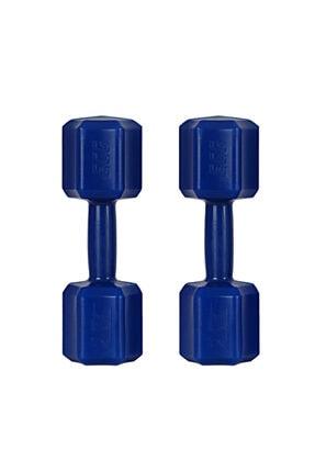 ECG Spor 2 Kg X 2 Adet 4 Kg Dambıl Seti 4 Kg Dumbell Set (Mavi) 0