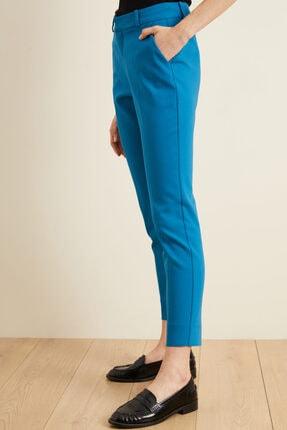 adL Kadın Mavi Paçası Yırtmaçlı Cepli Pantolon 2