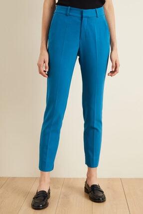 adL Kadın Mavi Paçası Yırtmaçlı Cepli Pantolon 4