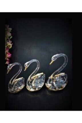 Çorlu Esse Krıstal 3 Lü Kuğu Altın Bd-2036-a BD-20036-A