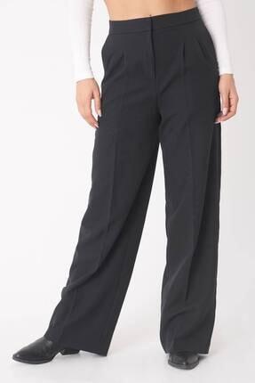 Addax Kadın Siyah Cep Detaylı Bol Pantolon Pn8058 - E8 ADX-0000023058 4