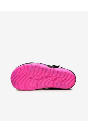 Skechers SIDE WAVE - Büyük Kız Çocuk Siyah Sandalet 4