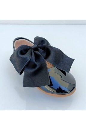 Riccotarz Kız Çocuk Siyah  Kurdaleli Rugan Babet Ayakkabı 2