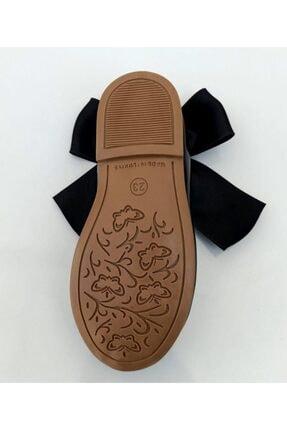 Riccotarz Kız Çocuk Siyah  Kurdaleli Rugan Babet Ayakkabı 3