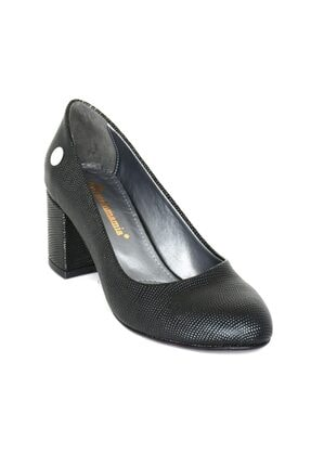 Mammamia 3850 Siyah Nokta Klasik Cilt Ayakkabı 1